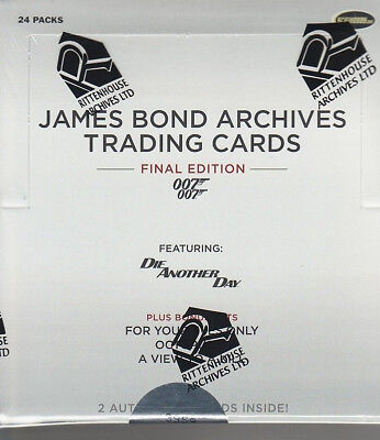 James Bond Archives Final Edition - 1 (ONE) Factory Sealed Trading Card Box