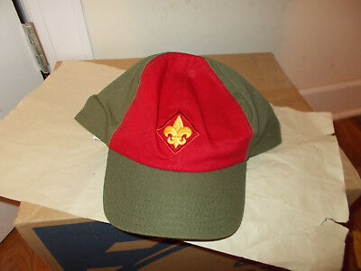 Boy Scout Twill Cap-1996-New W/tag-Usa Made-Xl-Olive,red-Logo-Snapback-Classic