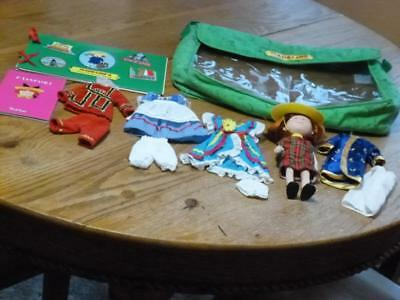 """Madeline 8"""" Doll+ International Clothes & Case( Bag), Passport, Mexican +"""