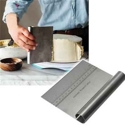 Stainless Steel Cake Pizza Pastry Dough Bench Scraper Cutter with Holder Q