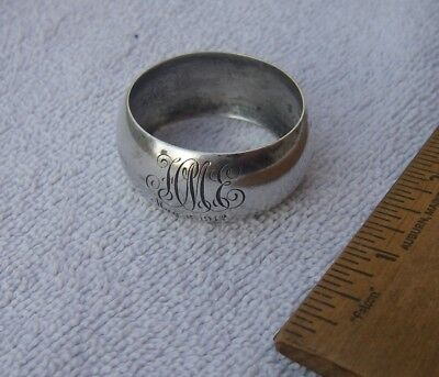 Good REED & BARTON Sterling CHILD'S NAPKIN RING-Dated 1912-NR