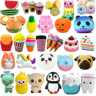 Lot Jumbo Squishy Super Soft Slow Rising Squeeze Toy Pressure Relief Kids Toys B
