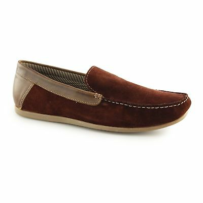 3a63b8f4c288 Red Tape FROME Mens Smooth Suede Leather Slip On Comfortable Loafers  Burgundy