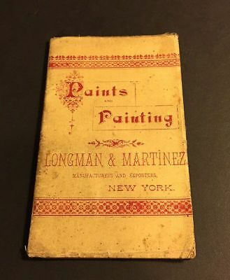 Antique Paints & Painting Longman & Martinez New York Paint Swatch Book 1893?