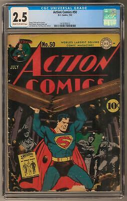 Action Comics #50 CGC 2.5 (C-OW) Fred Ray Cover & Art