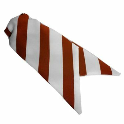 Ladies Clip On Striped Cravats - Red and White