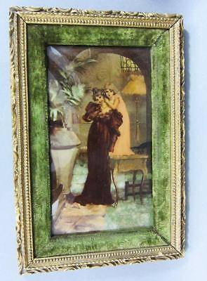 BEAUTIFUL GILT FRAMED CRYSTOLEUM PICTURE BEAUTIFUL LADY CIRCA 1890 Art Nouveau