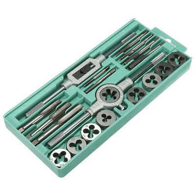 20Pcs Metric Tap Wrench and Die Pro Set M3-M12 Nut Bolt Steel Hand Repair Tool