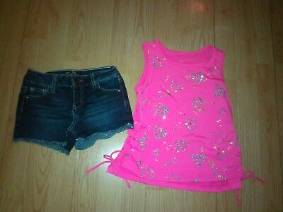 Justice 2 Piece Girls Outfit Size 6-7