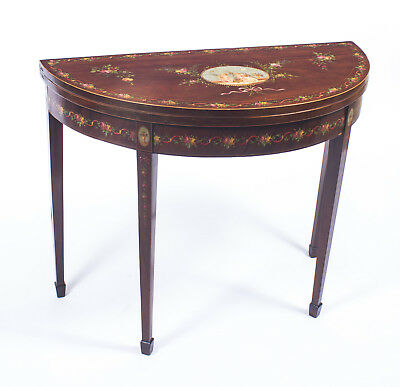 Antique George III Painted Card Console  Tea Table C1800