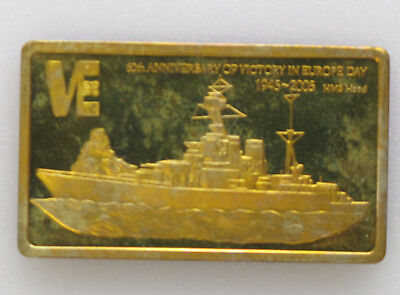 2005 Malawi 5 Kwacha Anniversary of Victory in Europe Day Brass Art Bar P1594