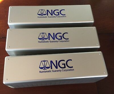 Three (3) Used NGC Coin Slab Storage Cases, Boxes (ea Holds 20 NGC, PCGS, etc.)