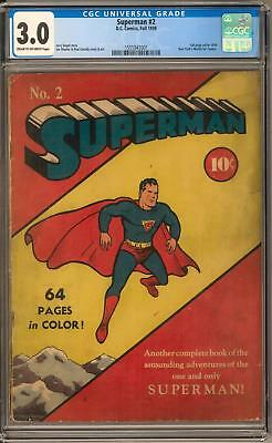 Superman #2 CGC 3.0 (C-OW) Classic Cover