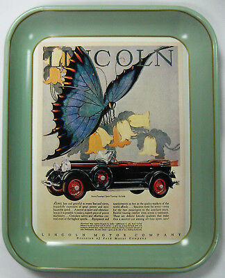 1976 Ford Antique Tray -1928 Lincoln 7 Passenger Touring - Repro of 1928 Ad -MT