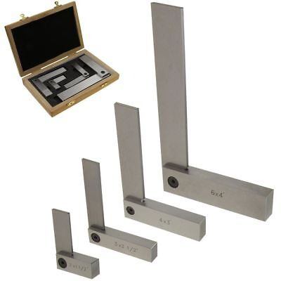 Machinist Square Set 4 pc Precision Ground Steel Hardened w/Case