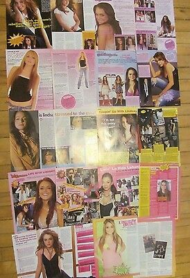Lindsay Lohan, Lot of TEN Two Page Clippings