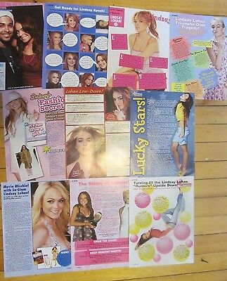 Lindsay Lohan, Lot of TEN Full Page Clippings