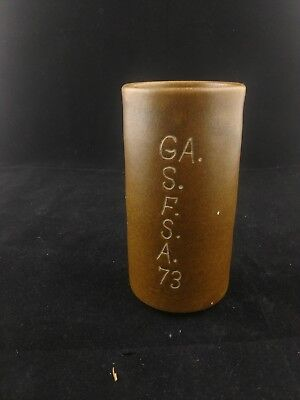 W J Gordy Georgia Pottery Vase With Inscription
