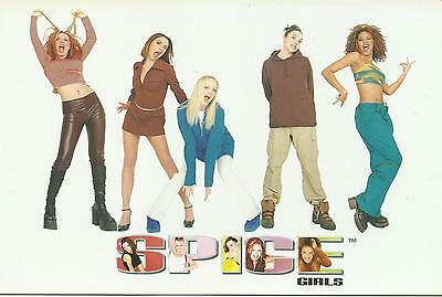 SPICE GIRLS group posing 1997 LARGE POSTCARD number 955 rare NEW
