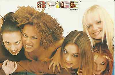 SPICE GIRLS group more faces 1997 LARGE POSTCARD number 957 rare NEW