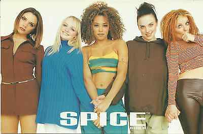 SPICE GIRLS group picture 1997 LARGE POSTCARD number 951 rare NEW
