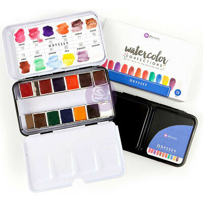 Prima Watercolor Confections Watercolor Pans 12/Pkg-Odyssey