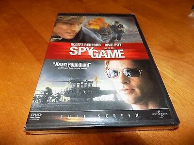 SPY GAME COLLECTOR'S EDITION FULL SCREEN Robert Redford Brad Pitt DVD NEW