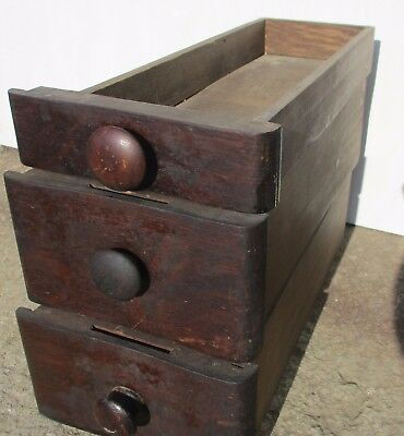 Set Of 3 Antique Victorian Oak Sewing Machine Drawers