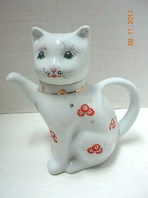 Vintage Chinese FORTUNE MONEY CAT TEAPOT / Pitcher Creamer by Price Products NJ