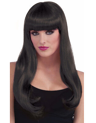 Long Womens Adult Witch Vampire Evil Queen Costume Wavy Wig