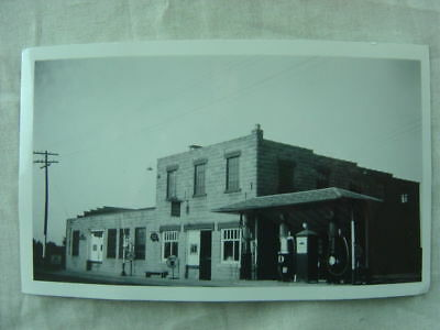 Vintage Photo The Salem Garage Roadside Service Station Mobil Gas Pumps 824