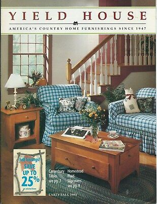 Yield House 1994 Vintage Catalog of Pine Furniture, Decorative Home Items etc.
