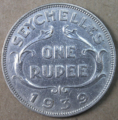Seychelles 50 Cents 1939 KM #4 XF+ One Year Type * AvenueCoin
