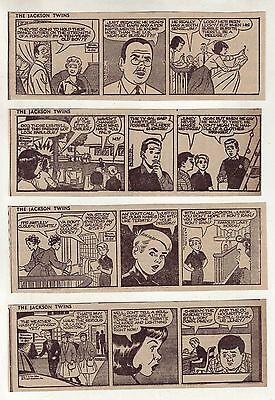 Jackson Twins by Dick Brooks - 25 daily comic strips - Complete April 1962