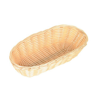 "12 PC Fast Food Basket Baskets Tray Poly Woven 8.5"" Oblong Nature PLBB850"