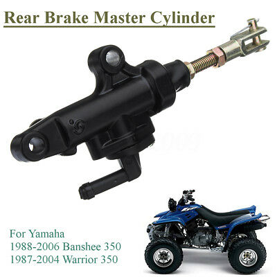 Rear Back Brake Master Cylinder Black For Yamaha ATV Warrior 350 Banshee YFM 350