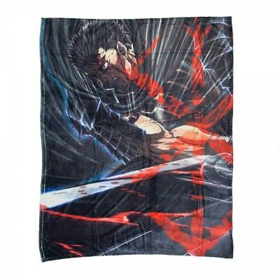 Berserk Guts  Key Art & Stigma Digital Print Throw Blanket 48X60 inches Official
