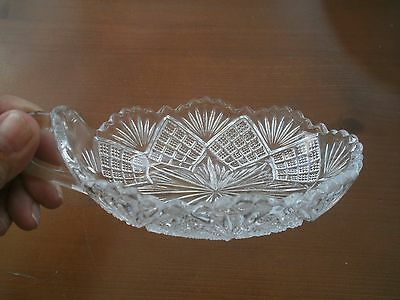 ANTIQUE vintage VICTORIAN CLEAR GLASS NAPPY candy BOWL LORD & LADIES VGC