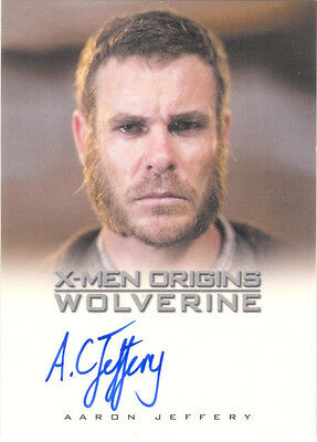 "X-Men Origins Wolverine - Aaron Jeffrey as ""Thomas Logan"" Auto/Autograph Card"