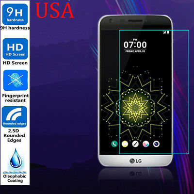 Tempered Glass Clear LCD Screen Protector Cover Film for LG G5 USA