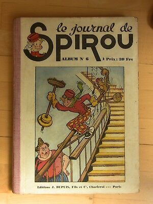 Reliure Spirou 6 Grand Format Tres Belle