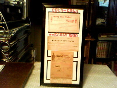 Coca - Cola Early 1900 Original Vintage Framed Memorabilia Display  - Excellent!