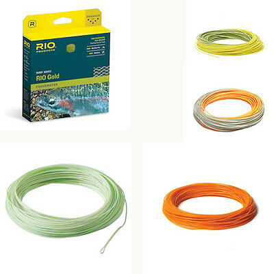 RIO Gold Fly Line WF5F Moss//Gold Freshwater Fly Fishing Free shipping in US NIB