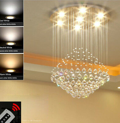 Modern Fashion Crystal chandeliers Two-tone Dimming Crystal Ceiling light  #8162
