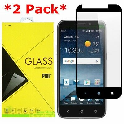 2X FULL COVER Premium Tempered Glass Screen Protector For ZTE Maven 3/Overture 3