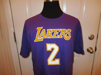 79f0a1713 New Los Angeles Lakers Adidas Authentic Lonzo Ball  2 Men s XL Purple Size  Shirt