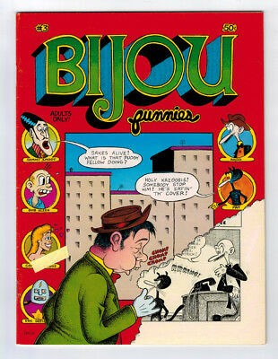 Bijou Funnies #3 7.0 1St Print Mint Crumb 1969 Off-White/white Pages