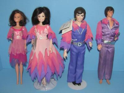 Donny & Marie Osmond Collector Porcelain Dolls + vtg 1976 Donnie and Marie dolls