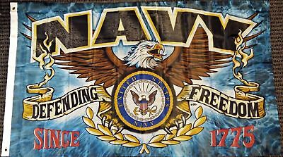 United States Navy Defending Freedom 3 x 5 Foot Flag