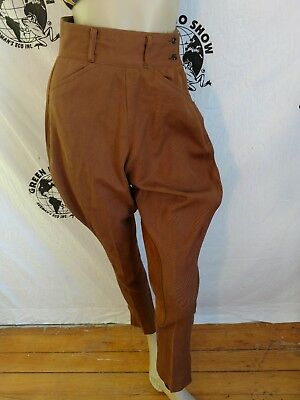 Western Riding pant jodhpur Breeches S-M  brown Suede on legs womens Steampunk